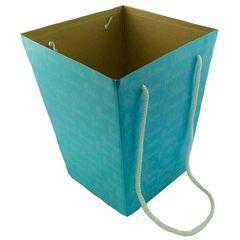 Коробка для цветов Синяя 12,5*18*22,5 см / 1 шт/