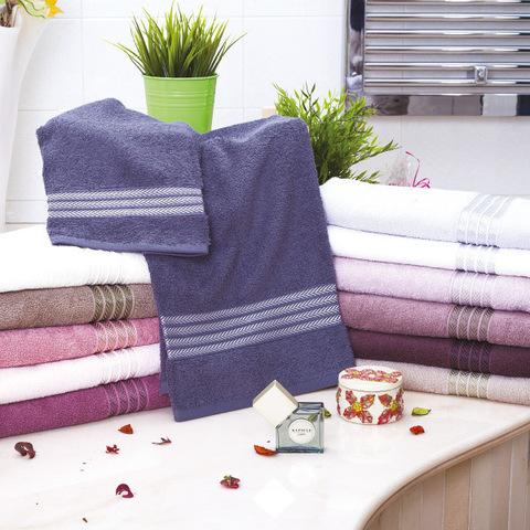 Набор полотенец 2 шт Vingi Ricami Matilde в коробке фиолетовый