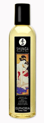 Масло массажное SHUNGA (Шунга) с эфирными маслами с цветочным ароматом (250 мл)