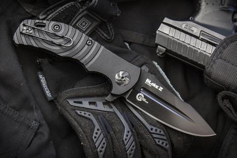 Складной нож Bloke Z D2 Black Titanium