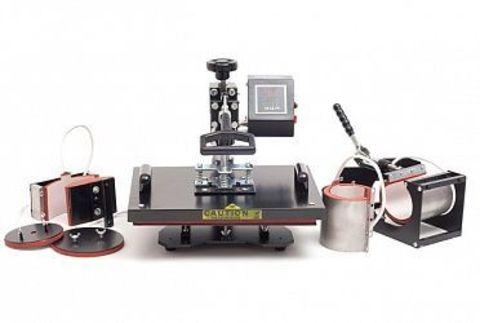 Термопресс 5 в 1 для маек, тканей, кружек, тарелок, бейсболок), (цифровое управление) - Термопресс пять в одном (КОМБО), Электронное управление,  5в1 /38*30 cm