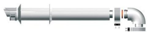 Коаксиальный дымоход Protherm DN Ø60/100 мм - 0.75 м. (Ягуар)
