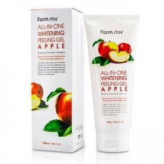 Farmstay All-In-One Whitening Peeling Gel Apple - Пилинг-гель для лица с экстрактом яблока
