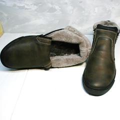 Ботинки зимние мужские натуральная кожа натуральный мех Rifellini Rovigo 046 Brown Black