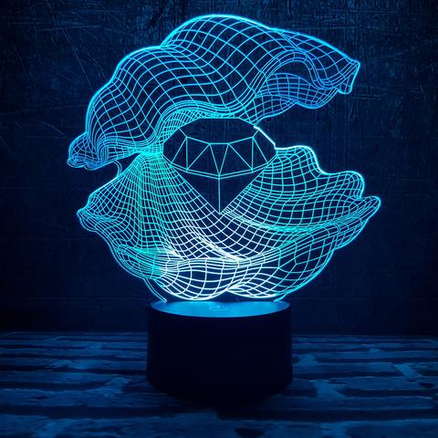 Светильник Ракушка с алмазом