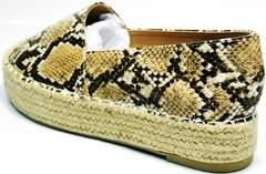 Туфли женские на низком ходу Lily shoes Q38snake.