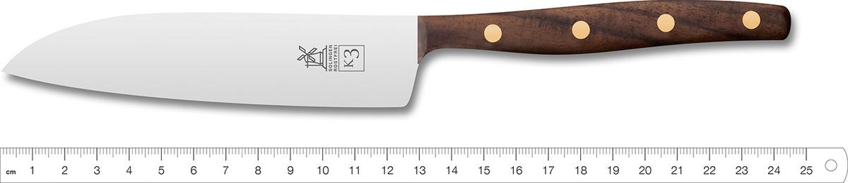 """Нож поварской """"Шеф"""" Windmuhlenmesser K3 Kochmesser, 125мм (грецкий орех)"""