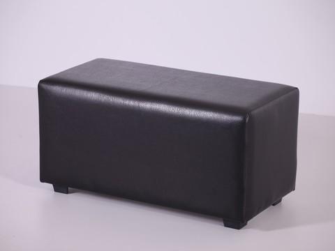 Пф-02 Пуфик прямоугольный (черный) для дома и магазина