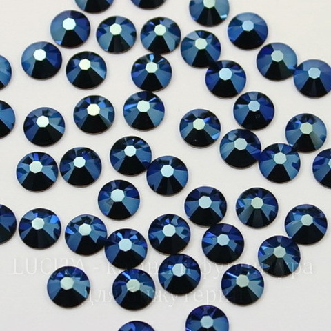 2058 Стразы Сваровски горячей фиксации Crystal Metallic Blue  ss12 (3-3,2 мм), 10 штук ()