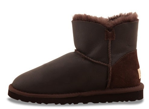 UGG Bailey Button Mini Metallic Chocolate