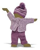 Вязаный жакет, рейтузы и шапочка - Демонстрационный образец. Одежда для кукол, пупсов и мягких игрушек.