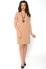 Классическое платье полуприталенного силуэта. По спинке замок.Рукав короткий. (Длина: 44-46=92см; 48=94см; 50=96см; 52=98см;).