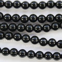 5810 Хрустальный жемчуг Сваровски Crystal Mystic Black круглый 4 мм,  10 штук