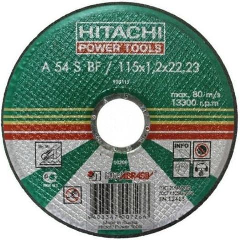 Диск отрезной HITACHI по металлу, А24 (14А) 115х1.2х22, 11512HR