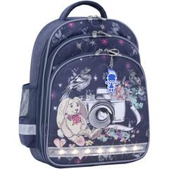 Рюкзак школьный Bagland Mouse 321 серый 210к (0051370)