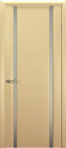 Дверь Океан Шторм-2, стекло белое, цвет беленый дуб, остекленная