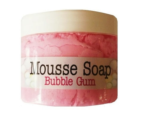 Mousse soap bubble gum