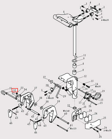 Пружина штыря деферента для лодочного мотора F9.8 Sea-PRO (13-32)