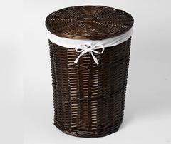 Корзина для белья WasserKRAFT Еlbe WB-740-L плетеная, с крышкой