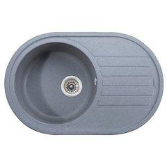 Мойка Kaiser (Кайзер) KGM-7750-G Grey для кухни из искусственного камня, круглая (овальная)