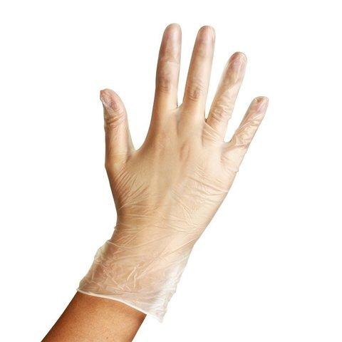 Перчатки виниловые одноразовые 1уп - 100шт