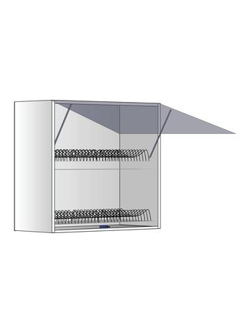 Верхний шкаф c сушилкой и газлифтами, 600Х600 мм / PushToOpen