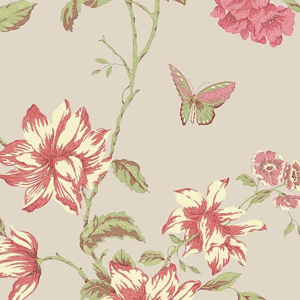 Обои Aura English Florals G34306, интернет магазин Волео