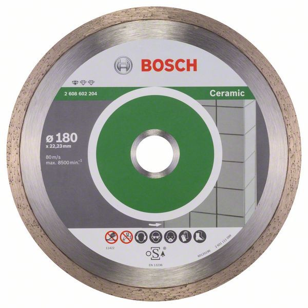 Алмазный диск Standart for Ceramic180-22,23 Bosch 2608602204