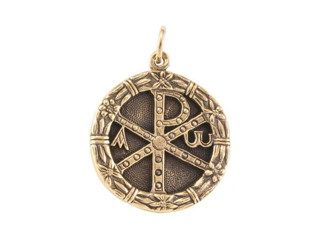 Снятые с публикации Символ Хризма. Монограмма Христа кулон RH-1330.jpg
