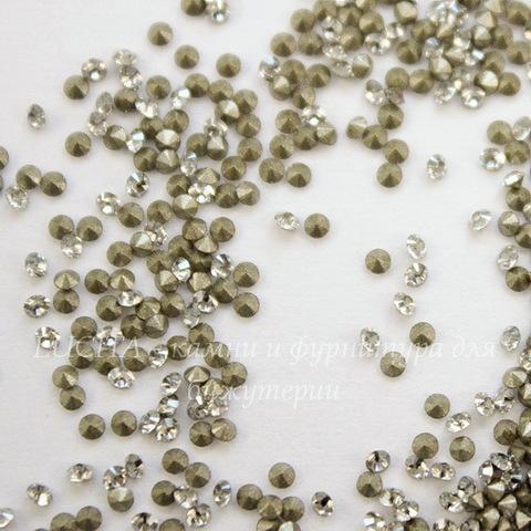1028 Стразы Сваровски Crystal Silver Shade PP 6 (1,3-1,35 мм), 20 штук