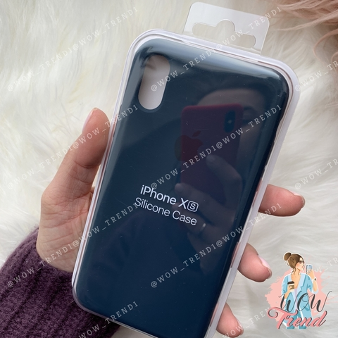 Чехол iPhone X/XS Silicone Case /pacific green/ тихий океан original quality