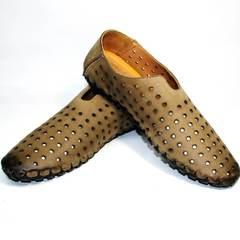 Модные мужские летние туфли smart casual стиль Luciano Bellini 107703 Beige.
