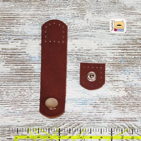 Кнопка кожаная пришивная 24х100мм LKD-24x100 (коричневый)