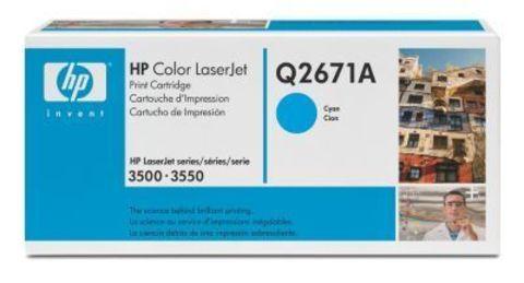 Картридж HP Q2671A cyan - тонер-картридж для HP Color LaserJet 3500, 3500n, 3550, 3550n (голубой 4000 стр.)