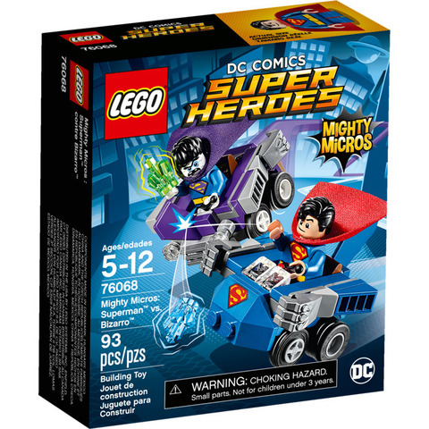 LEGO Super Heroes: Mighty Micros: Супермен против Бизарро 76068 — Mighty Micros: Superman vs. Bizarro — Лего Супергерои ДиСи
