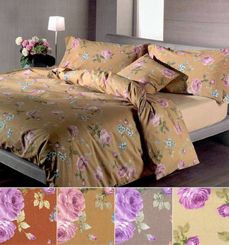 Постельное белье 2 спальное евро макси Caleffi Rose слоновая кость