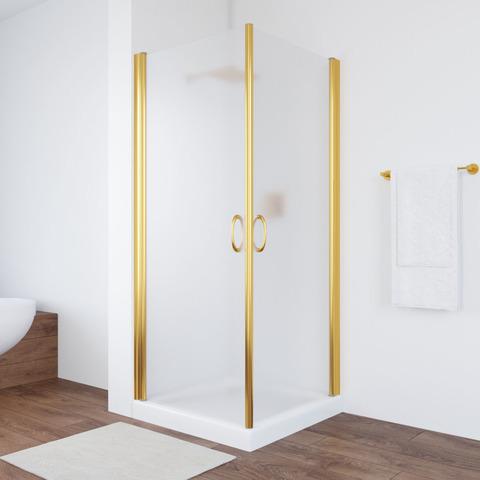 Душевой уголок Vegas Glass EA профиль золото, стекло сатин