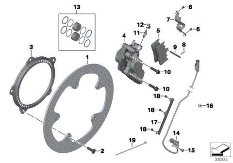 Комплект тормозных колодок, порошков. передние