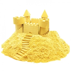 Космический песок. Песочница+6 формочек 2 кг. Желтый