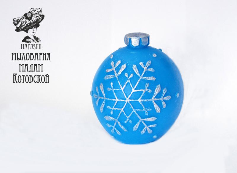 Елочный шар 3D, форма силиконовая