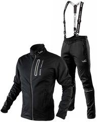 c340dae3 Утеплённый лыжный костюм 905 Victory Code Go Fast 2019 Black с лямками  мужской