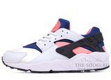 Кроссовки Женские Nike Air Huarache ES White Blue Pink