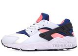 Кроссовки Женские Nike Air Huarache ES White Blue Pink