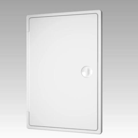 Люк-дверца накладной с замком 250х250 пластиковый