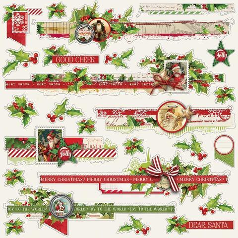 Стикеры 30х30 см. - Simple Vintage Christmas- Borders