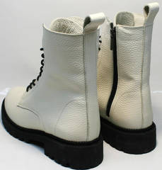 Теплые женские ботинки на зиму Ari Andano 740 Milk Black.