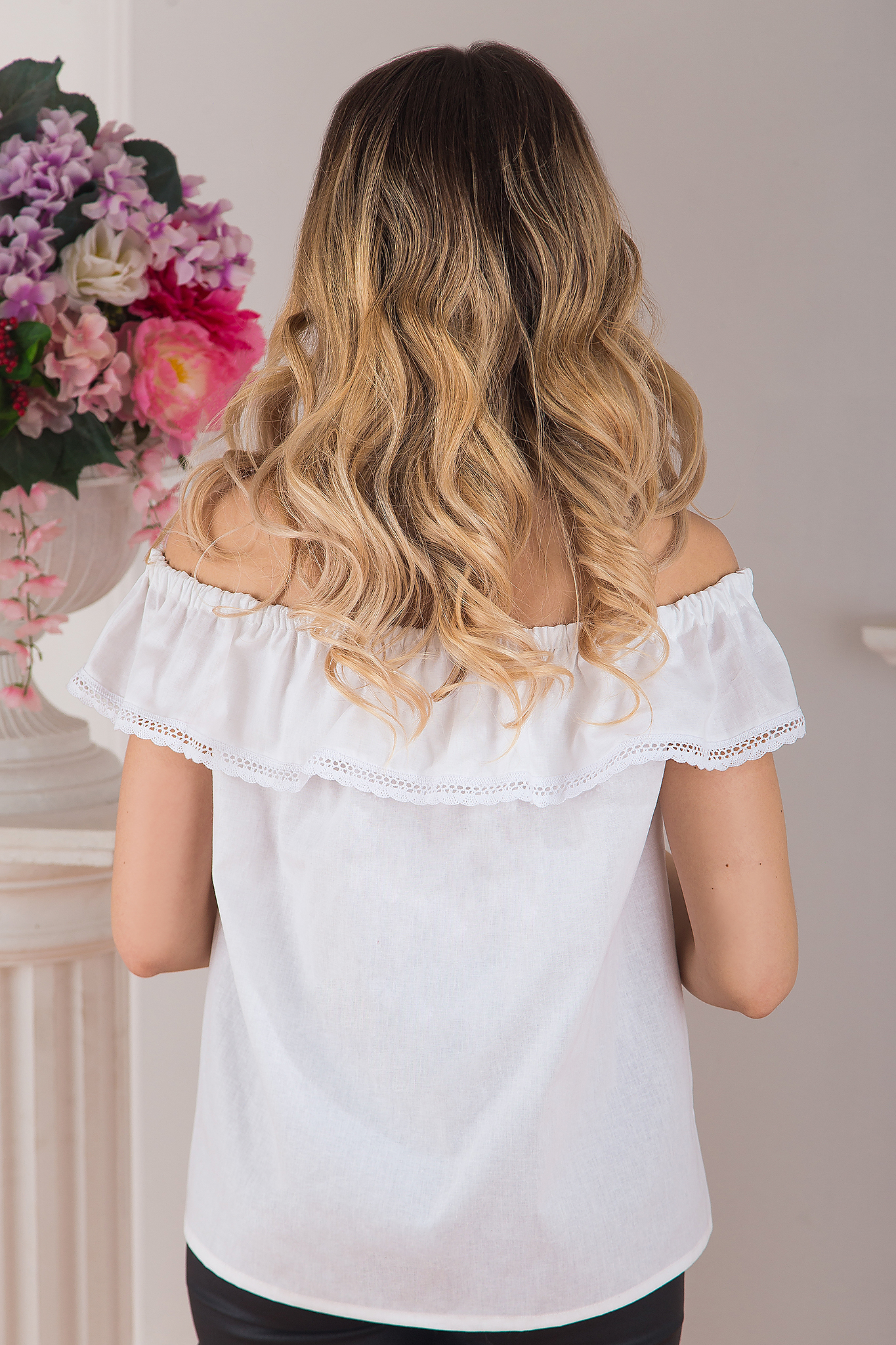 Блуза Милица вид сзади