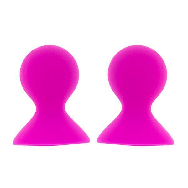 Помпы и стимуляторы для груди: Ярко-розовые помпы для сосков LIT-UP NIPPLE SUCKERS LARGE PINK