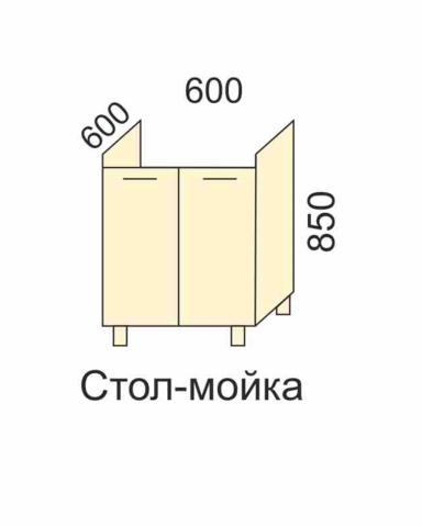 СОФЬЯ, СВЕТЛАНА, ПРЕМЬЕР, ПОЛИНАСтол-мойка 600