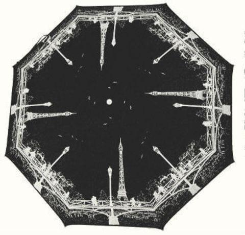 Зонт складной Guy de Jean 3405-9-black la Tour Eiffel